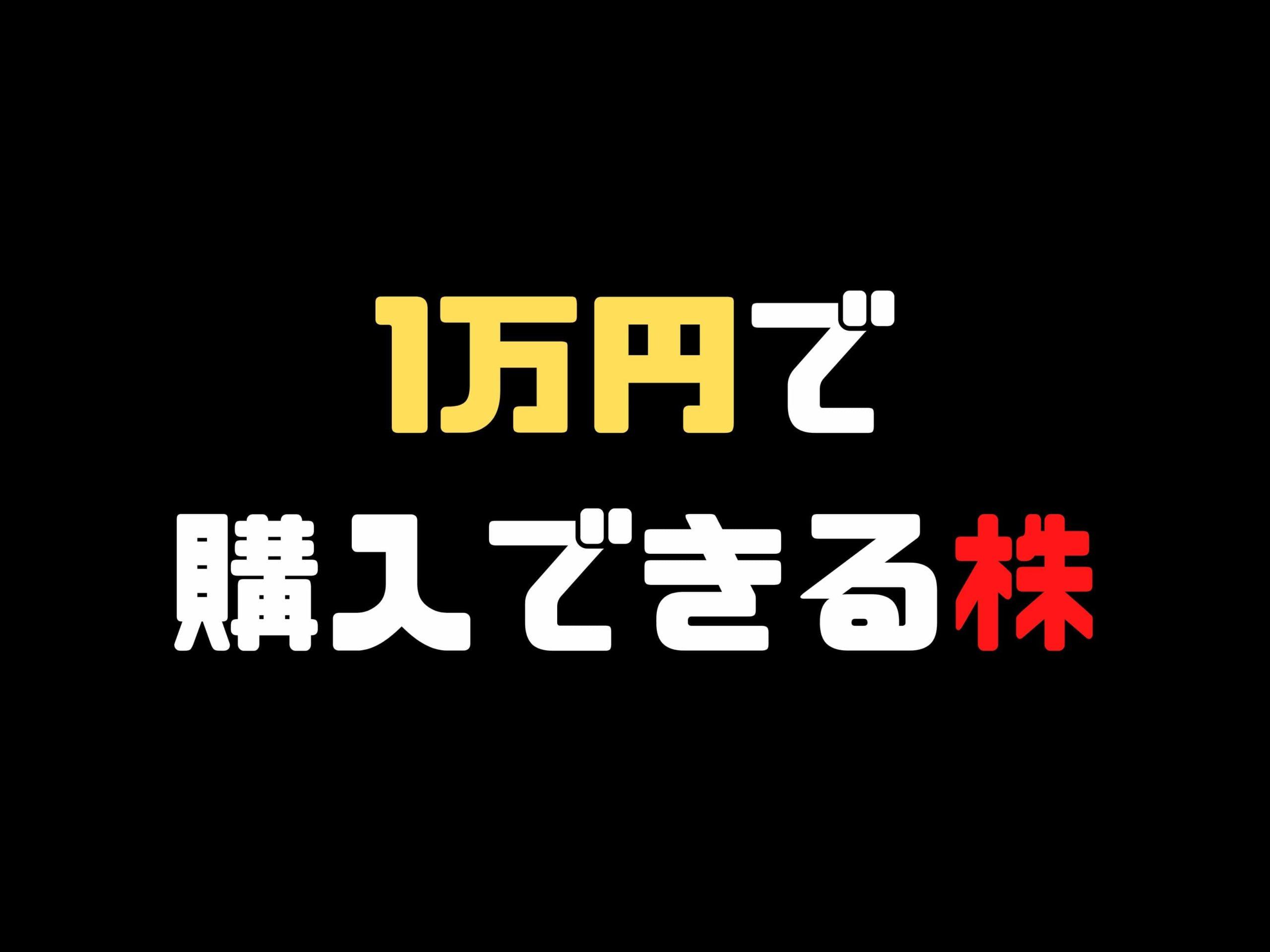 【2021年版】1万円以下で買える日本株一覧!配当金で購入可能