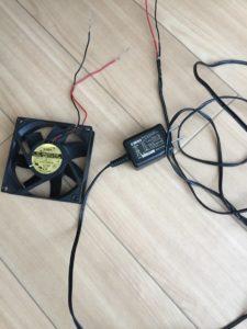水槽で使える冷却用ファン(扇風機)の自作方法
